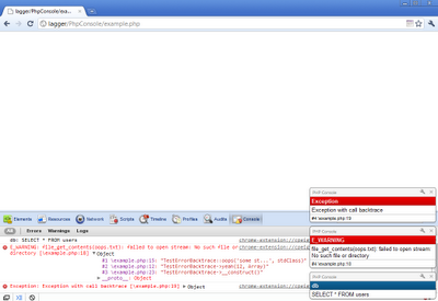 PHP Console : Google Chrome Extensions for Web Developers