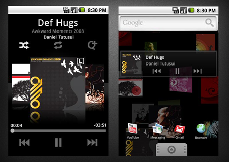 Music (mspot) Now Playing and Live Wallpaper