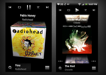 Cubed Music application for Android