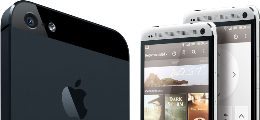 HTC One and iPhone5