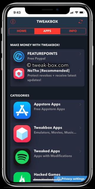 tweakbox app categories